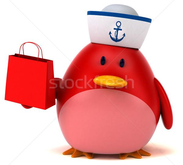 красный птица 3d иллюстрации бизнеса оранжевый груди Сток-фото © julientromeur