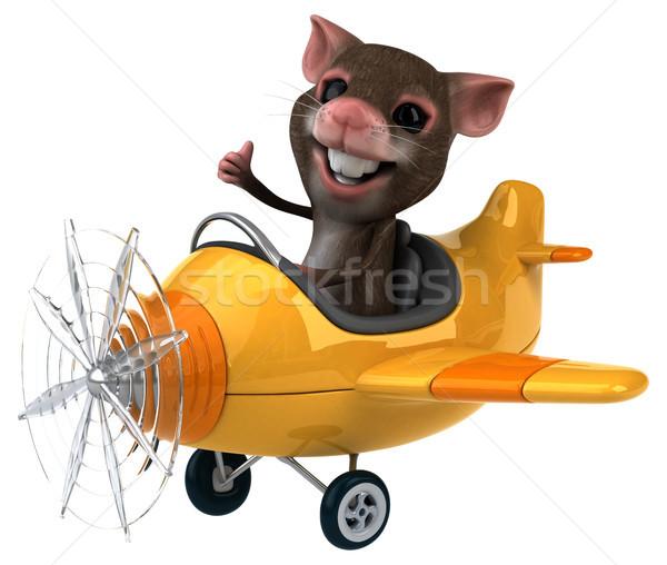 Stok fotoğraf: Eğlence · fare · uçak · komik · hayvan · hava