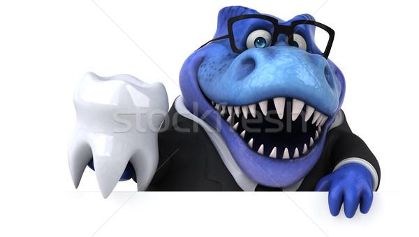 Jókedv 3d illusztráció üzlet üzletember pénzügy fogak Stock fotó © julientromeur