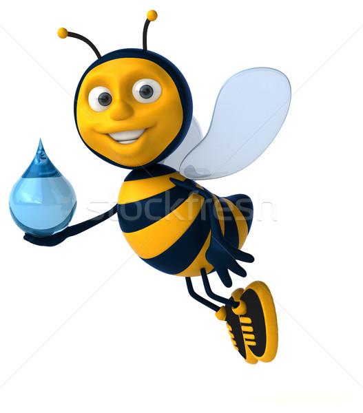 Leuk bee werknemer drop honing antenne Stockfoto © julientromeur