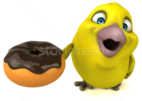 Diversão pássaro laranja animal desenho animado dieta Foto stock © julientromeur