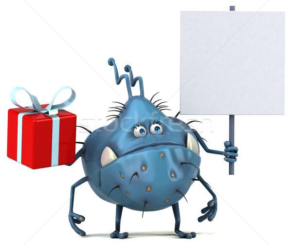 Stock fotó: Jókedv · bacilus · 3d · illusztráció · egészség · karácsony · rajz