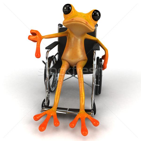 весело лягушка 3d иллюстрации коляске среде инвалидов Сток-фото © julientromeur