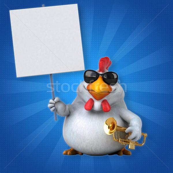 Zabawy kurczaka 3d ilustracji projektu ptaków koncertu Zdjęcia stock © julientromeur