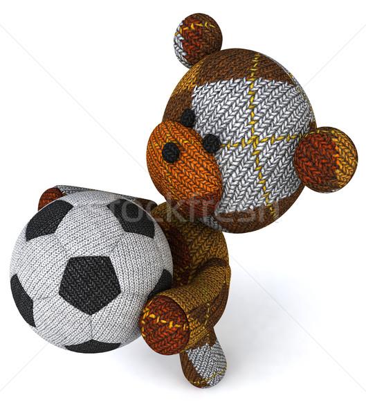 Oyuncak ayı bebek futbol top oyuncak hediye Stok fotoğraf © julientromeur