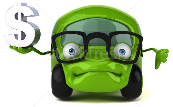Leuk auto 3d illustration weg financieren energie Stockfoto © julientromeur