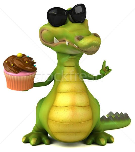 Krokodil eğlence mutlu dizayn çikolata sanat Stok fotoğraf © julientromeur
