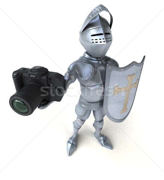 Leuk ridder digitale foto soldaat helm Stockfoto © julientromeur