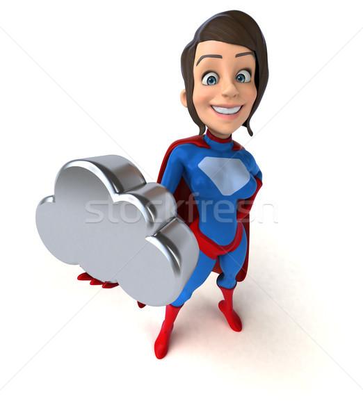 Szuper nő test lányok sebesség felhő Stock fotó © julientromeur