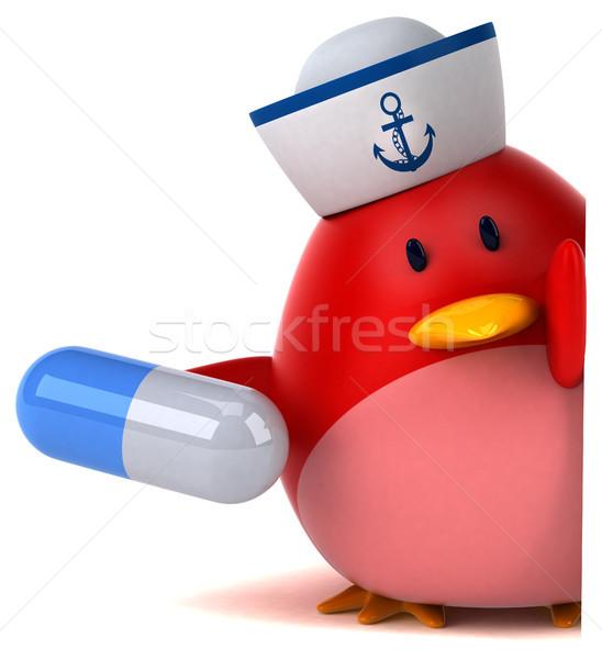 Vermelho pássaro ilustração 3d laranja peito medicina Foto stock © julientromeur