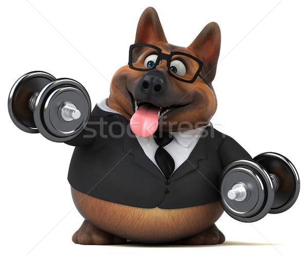 Pastore cane illustrazione 3d palestra occhiali suit Foto d'archivio © julientromeur