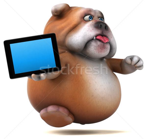 Fun bulldog - 3D Illustration Stock photo © julientromeur