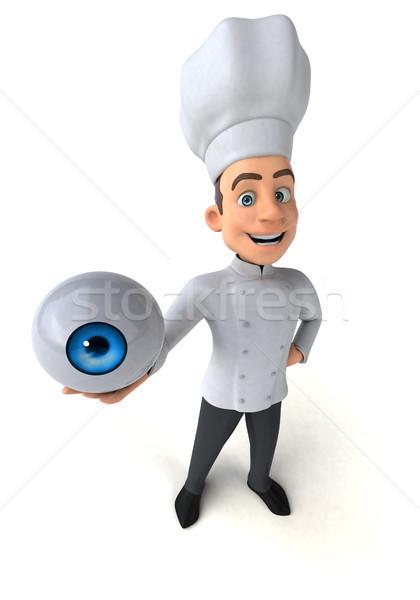Eğlence şef mutfak beyaz pişirme pişirmek Stok fotoğraf © julientromeur