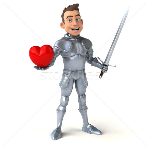 Zabawy rycerz serca cyfrowe żołnierz kask Zdjęcia stock © julientromeur