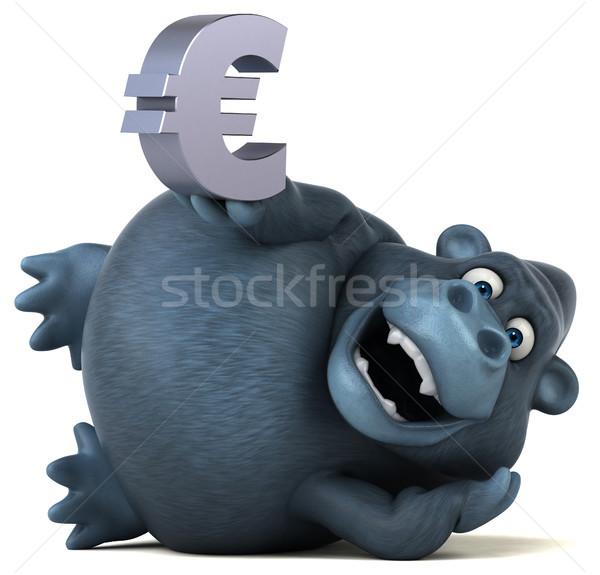 Jókedv gorilla 3d illusztráció üzlet pénz természet Stock fotó © julientromeur