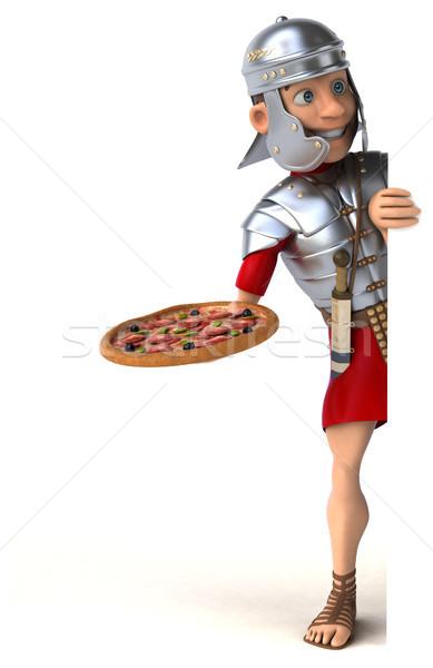 Romeinse soldaat zwaard strijd leger geschiedenis Stockfoto © julientromeur