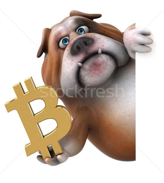 Diversão buldogue ilustração 3d financiar cadeia animal Foto stock © julientromeur