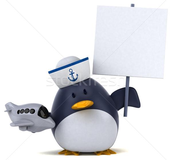Spaß Pinguin 3D-Darstellung Vogel Flugzeug funny Stock foto © julientromeur