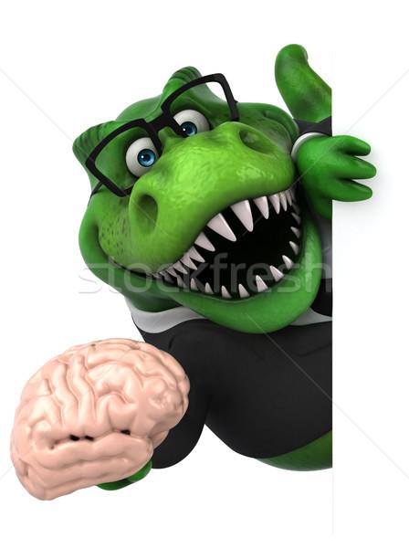 Сток-фото: весело · 3d · иллюстрации · бизнеса · бизнесмен · мозг · Финансы