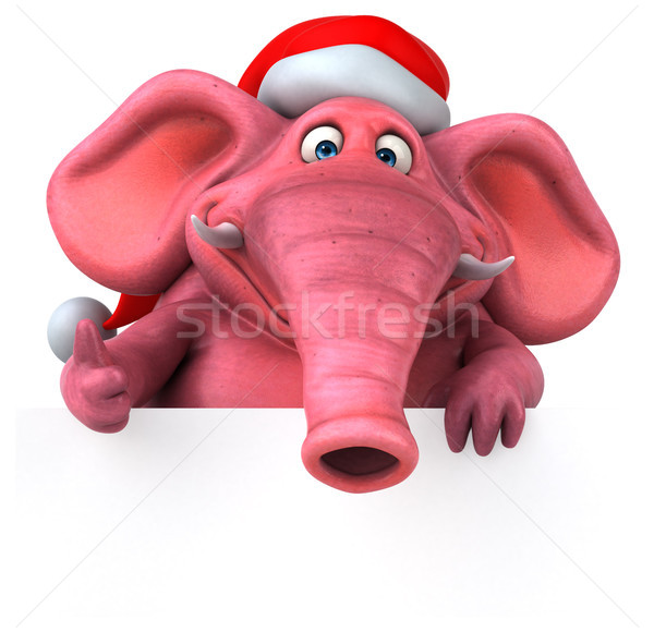 Pink elephant - 3D Illustration Stock photo © julientromeur
