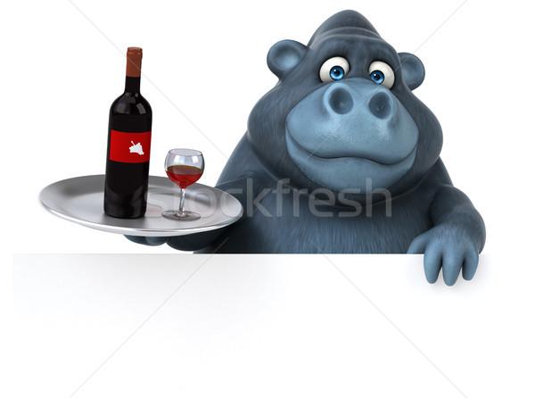 Jókedv gorilla 3d illusztráció természet ital piros Stock fotó © julientromeur