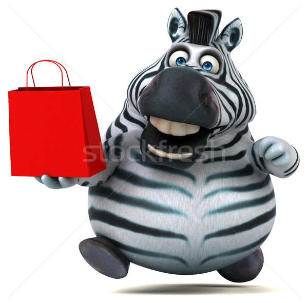 Leuk zebra 3d illustration business afrika dier Stockfoto © julientromeur