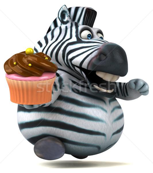 Eğlence zebra 3d illustration çikolata Afrika hayvan Stok fotoğraf © julientromeur