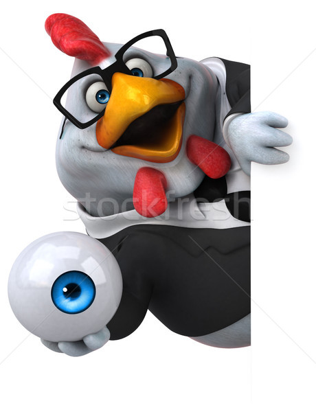 Zabawy kurczaka 3d ilustracji działalności oka projektu Zdjęcia stock © julientromeur