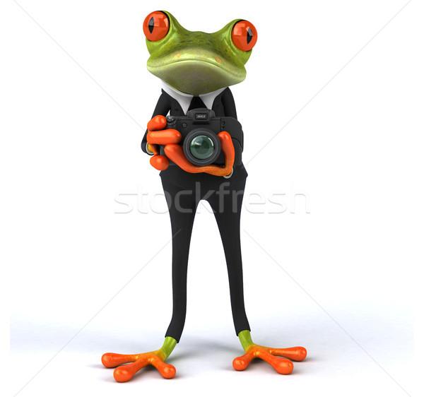 Stock fotó: Jókedv · béka · technológia · öltöny · digitális · állat