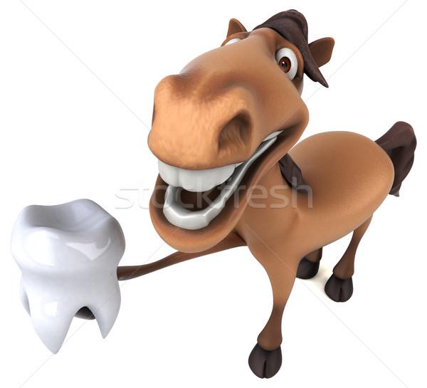 Diversión caballo dientes dentista cabeza carrera Foto stock © julientromeur