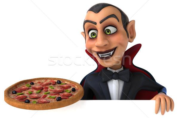 вампир пиццы искусства рот губ черный Сток-фото © julientromeur