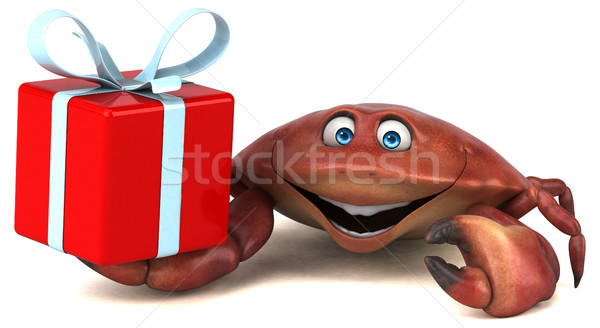 Zabawy Krab 3d ilustracji charakter obiedzie biały Zdjęcia stock © julientromeur