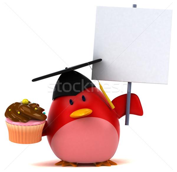 Vermelho pássaro ilustração 3d laranja peito animal Foto stock © julientromeur