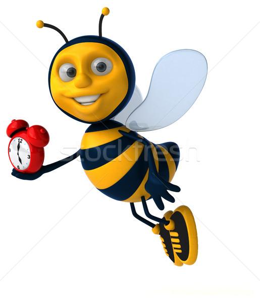 Leuk bee klok werknemer honing antenne Stockfoto © julientromeur
