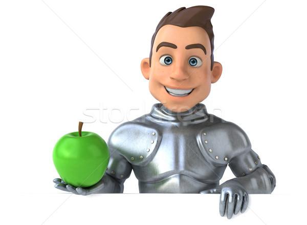 Leuk ridder appel vruchten digitale soldaat Stockfoto © julientromeur