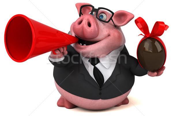 Stok fotoğraf: Eğlence · domuz · 3d · illustration · çikolata · takım · elbise · çiftlik