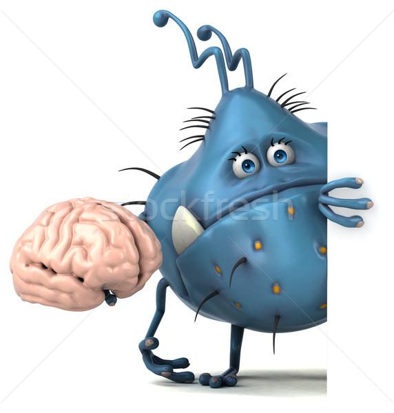 Distracţie ilustrare 3d sănătate creier grafic Imagine de stoc © julientromeur