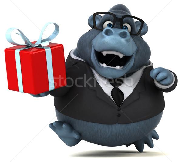 Leuk gorilla 3d illustration pak dier shirt Stockfoto © julientromeur