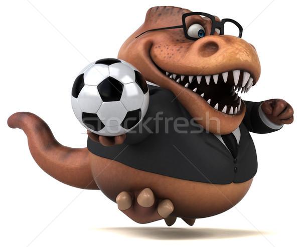 весело 3d иллюстрации бизнеса Футбол футбола бизнесмен Сток-фото © julientromeur