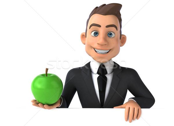 весело бизнесмен фрукты костюм мальчика успех Сток-фото © julientromeur