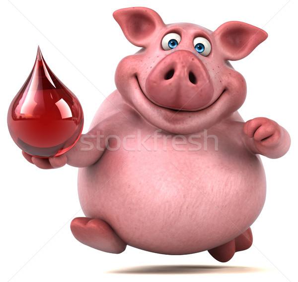 Zabawy wieprzowych 3d ilustracji żywności czerwony tłuszczu Zdjęcia stock © julientromeur