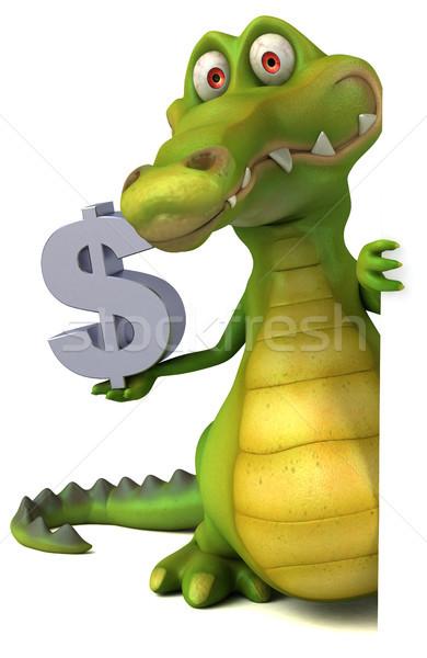 Crocodil distracţie fericit proiect artă gură Imagine de stoc © julientromeur