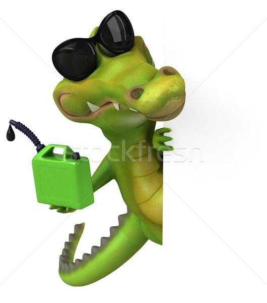 Krokodil eğlence mutlu dizayn sanat yeşil Stok fotoğraf © julientromeur