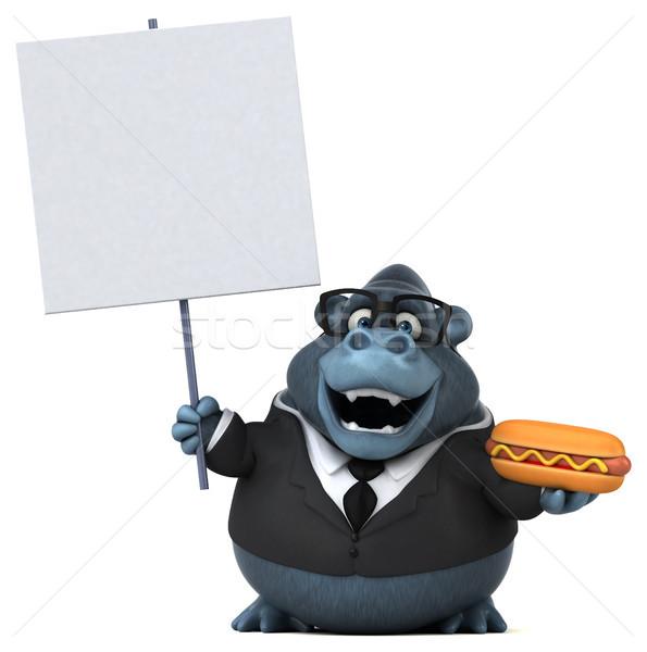 Eğlence goril 3d illustration iş doğa işadamı Stok fotoğraf © julientromeur