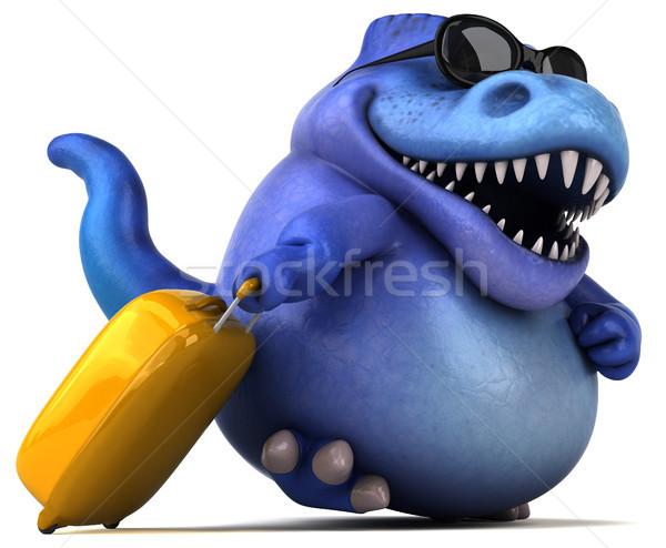 Jókedv dinoszaurusz 3d illusztráció fogak állat bőrönd Stock fotó © julientromeur