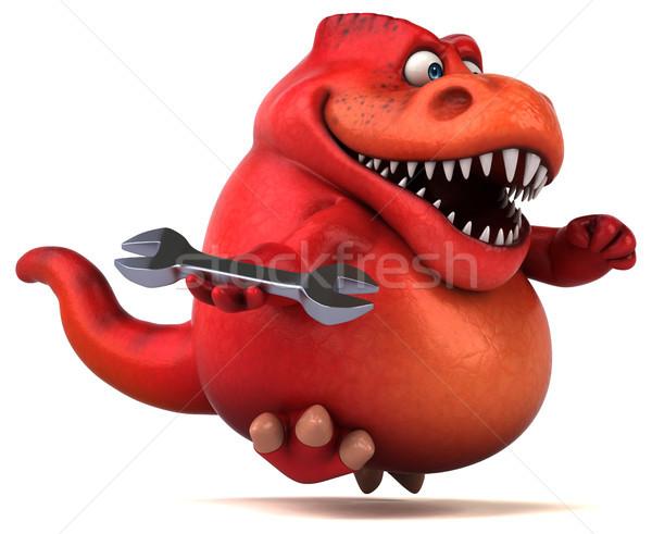 Diversão dinossauro ilustração 3d trabalhador dentes animal Foto stock © julientromeur