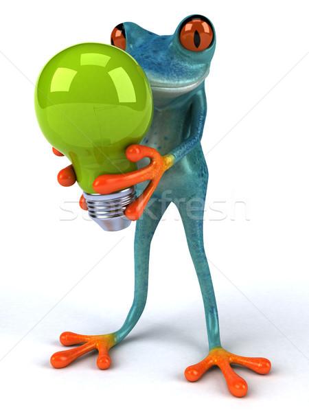 Leuk kikker 3d illustration licht energie elektriciteit Stockfoto © julientromeur