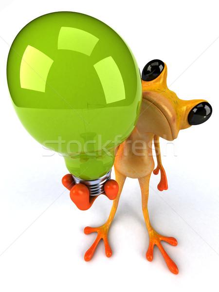Stok fotoğraf: Eğlence · kurbağa · 3d · illustration · ışık · enerji · tropikal