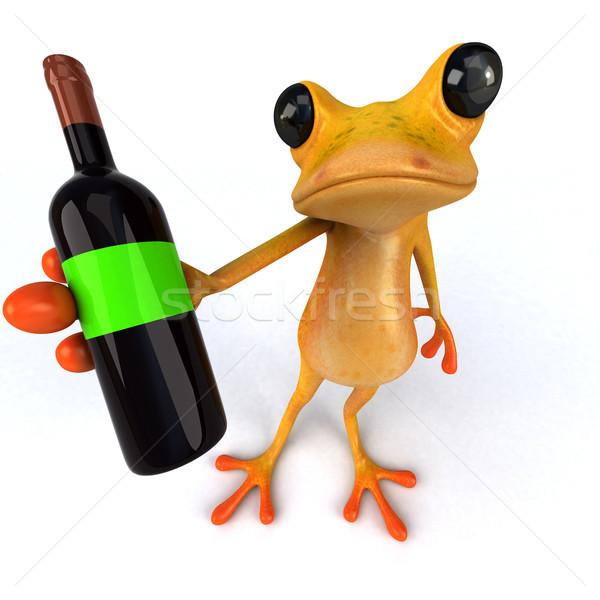 Divertimento rana illustrazione 3d vino ambiente illustrazione Foto d'archivio © julientromeur