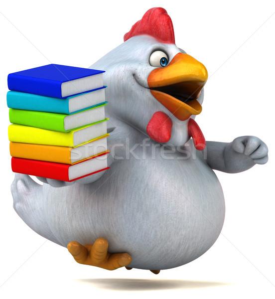Jókedv tyúk 3d illusztráció könyvek terv madár Stock fotó © julientromeur